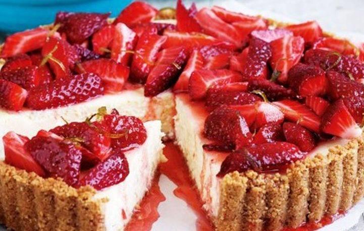 Δροσιστική τάρτα με φράουλες