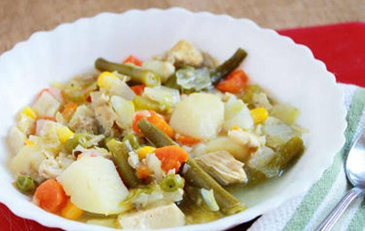 Σούπα με κοτόπουλο και λαχανικά