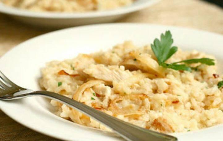 Ριζότο με κοτόπουλο και παρμεζάνα