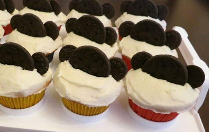 Λαχταριστά cupcakes με τον mickey mouse