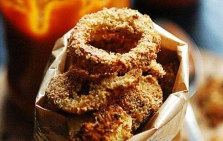 Λαχταριστά onion rings με κρούστα δημητριακών