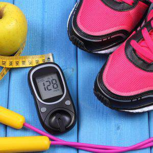 bigstock-Glucometer-Sport-Shoes-Fresh-120808721